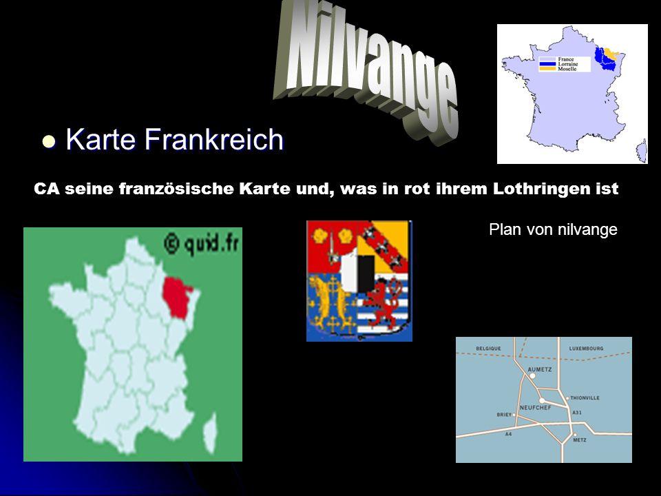 Karte Frankreich Karte Frankreich CA seine französische Karte und, was in rot ihrem Lothringen ist Plan von nilvange