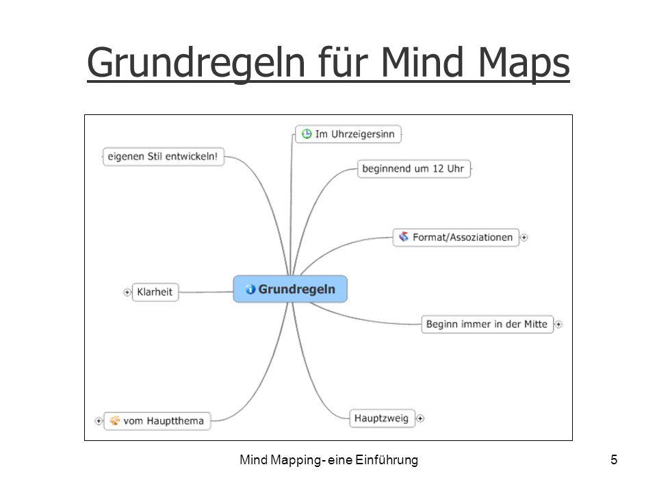 Mind Mapping- eine Einführung5 Grundregeln für Mind Maps