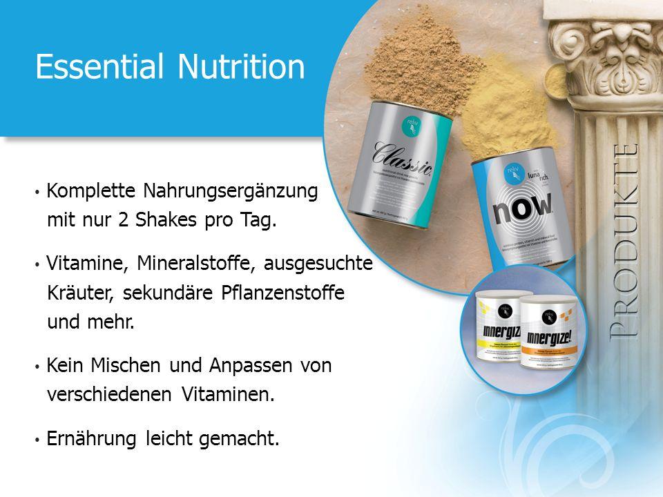 Essential Nutrition Komplette Nahrungsergänzung mit nur 2 Shakes pro Tag. Vitamine, Mineralstoffe, ausgesuchte Kräuter, sekundäre Pflanzenstoffe und m