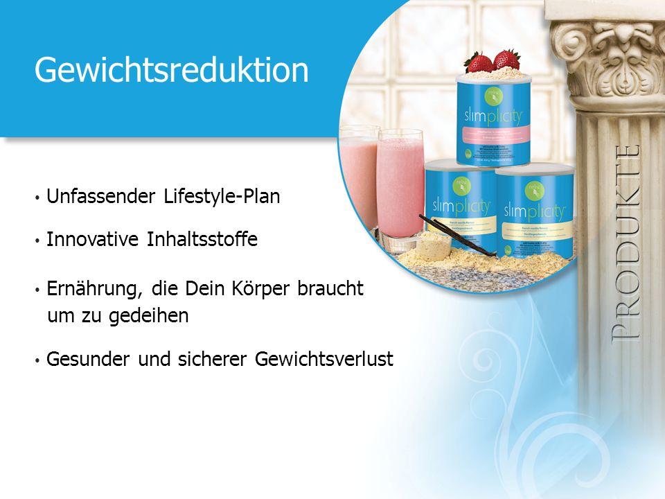Gewichtsreduktion Unfassender Lifestyle-Plan Innovative Inhaltsstoffe Ernährung, die Dein Körper braucht um zu gedeihen Gesunder und sicherer Gewichts