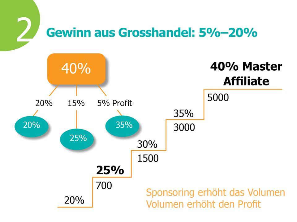 20%15%5% Profit
