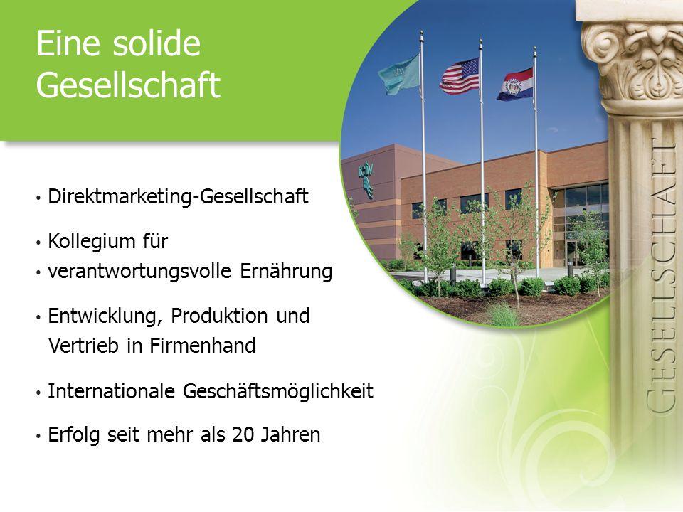 Eine solide Gesellschaft Direktmarketing-Gesellschaft Kollegium für verantwortungsvolle Ernährung Entwicklung, Produktion und Vertrieb in Firmenhand I