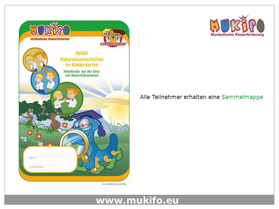 www.mukifo.eu Durch den MUKI-FORSCHER-RAP werden die Einheiten eröffnet und geschlossen, so werden die Kinder in die Stunde begleitet und auch wieder in den Kindergartenalltag entlassen