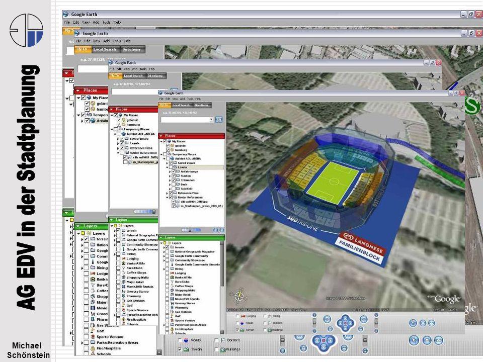 Michael Schönstein EDV in der Stadtplanung - 3D Stadtmodelle – Februar 2008 Google Earth - Beispiele