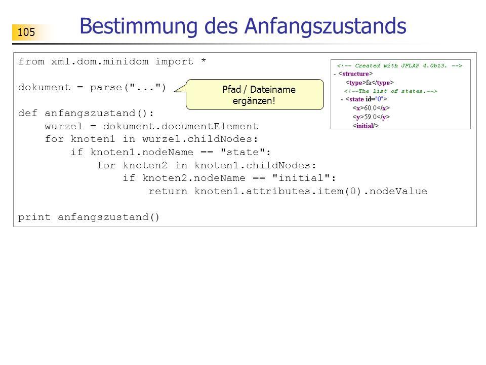 105 from xml.dom.minidom import * dokument = parse(