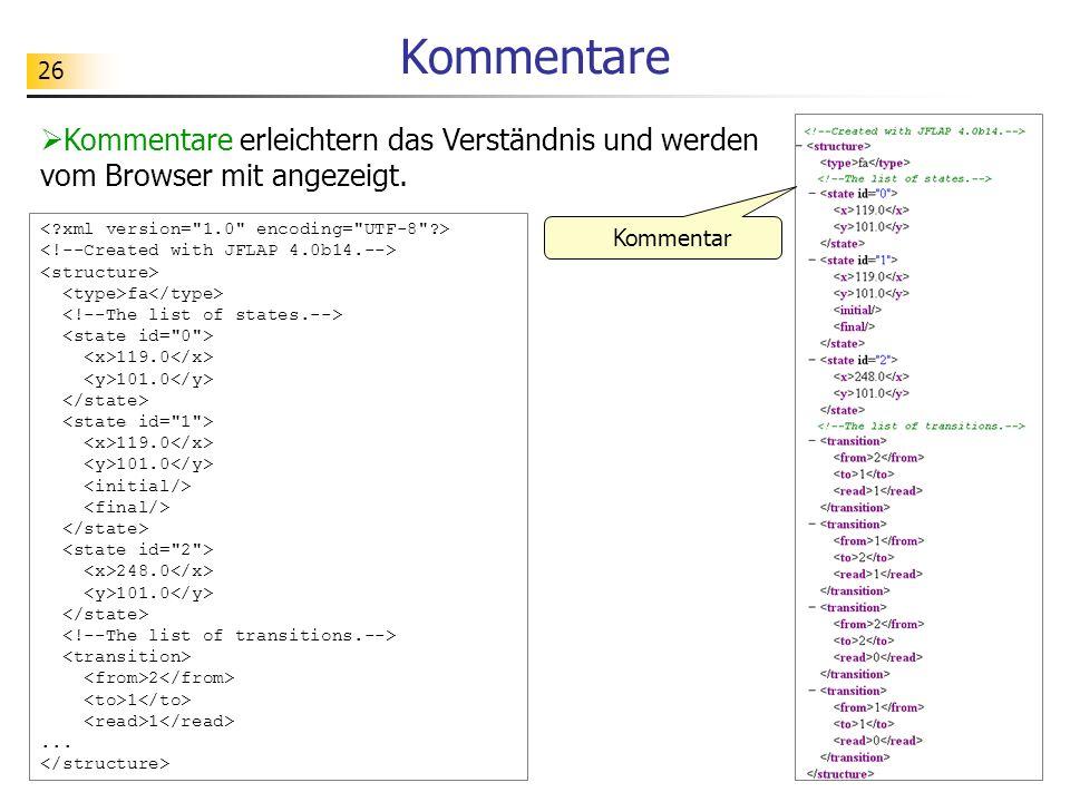 26 Kommentare Kommentare erleichtern das Verständnis und werden vom Browser mit angezeigt. fa 119.0 101.0 119.0 101.0 248.0 101.0 2 1... Kommentar