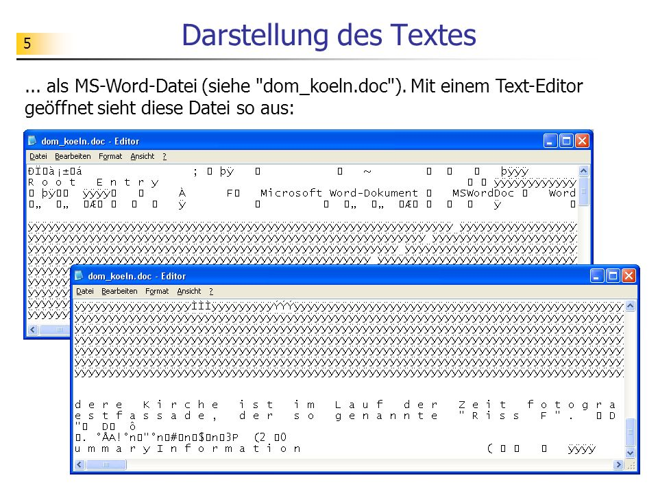 96 Attribut- knoten Navigation im Strukturbaum state x #text: 60.0 type #text: fa #comment: #document y #text: 59.0 initial #comment: structure state PreviousSibling LastChild ParentNode NextSibling Operationen: Grafik aus: Introducing the Document Object Model using OpenXML (Part 1) by Craig Murphy Text- knoten Dokument- knoten Element- knoten Id: 0 Id: 1 FirstChild