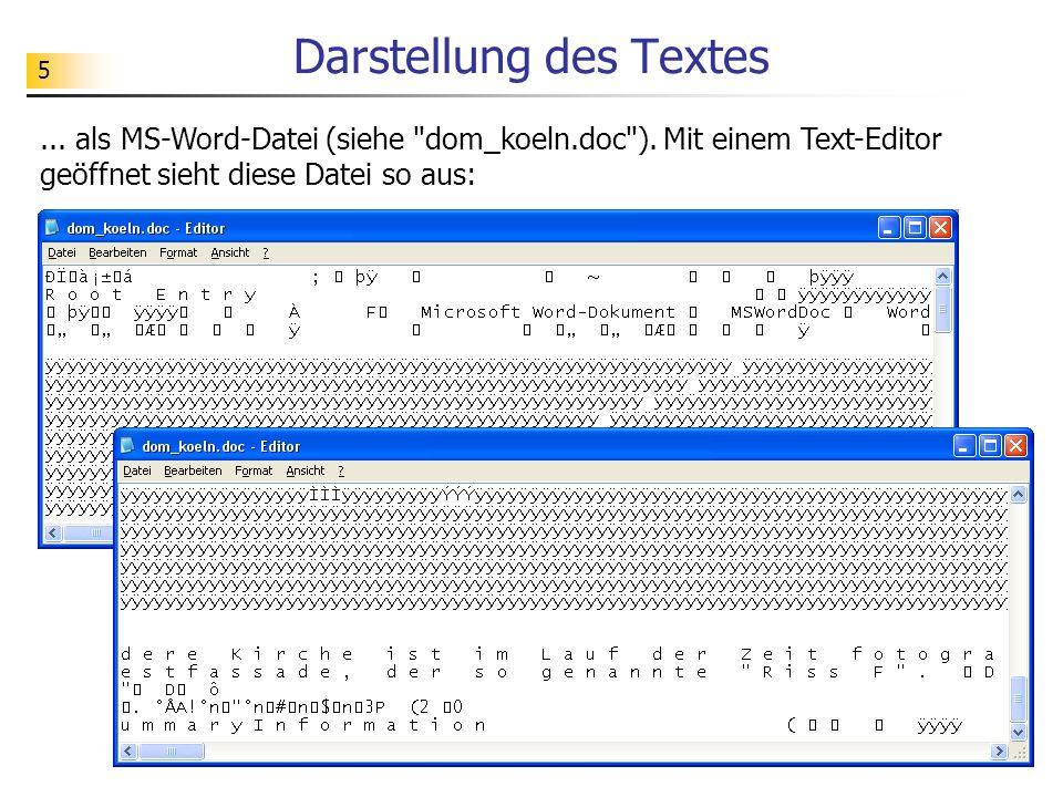 5 Darstellung des Textes... als MS-Word-Datei (siehe