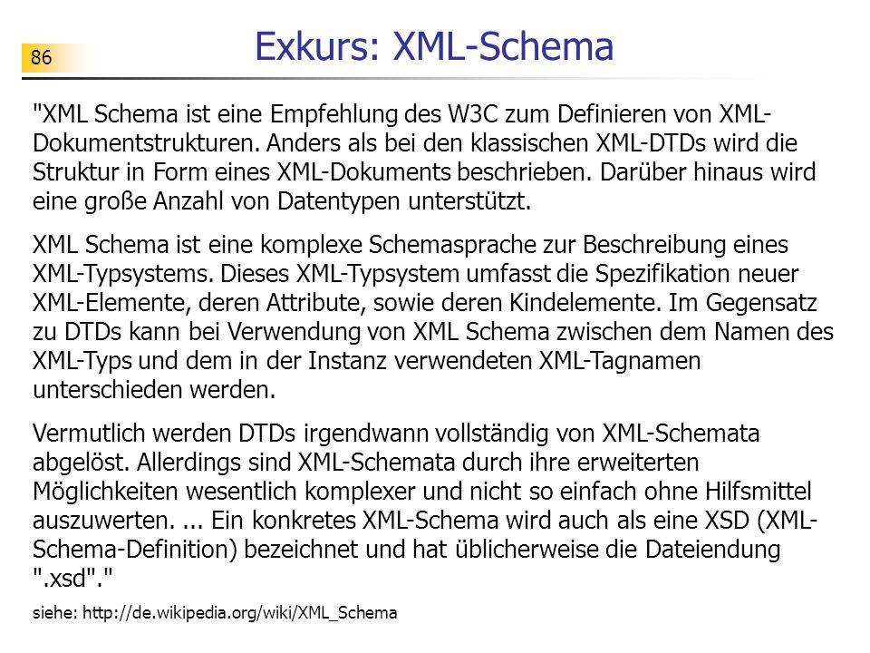 86 Exkurs: XML-Schema