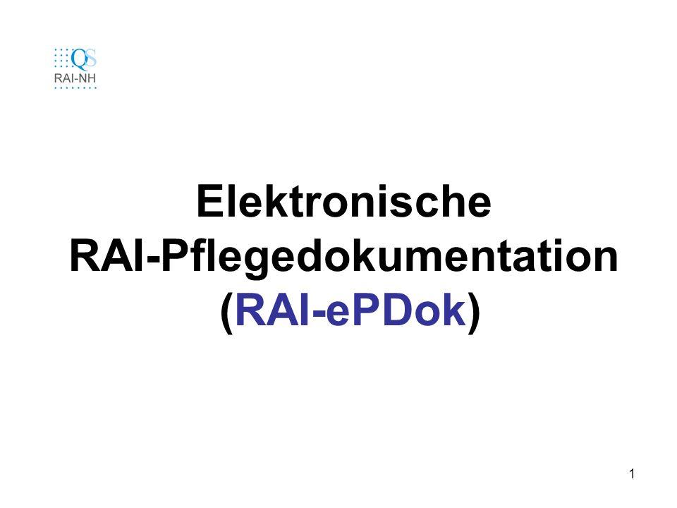 12 RAI-NH-ePDok Startbild nach dem Einloggen Es wird die aktuelle Abteilung eingeblendet...