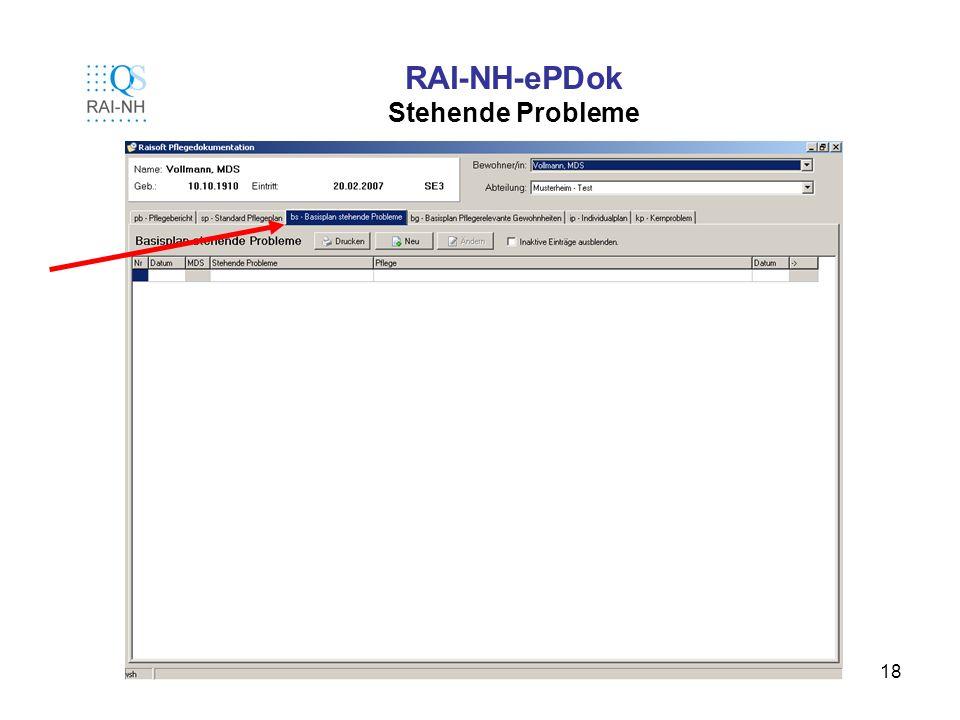 18 RAI-NH-ePDok Stehende Probleme