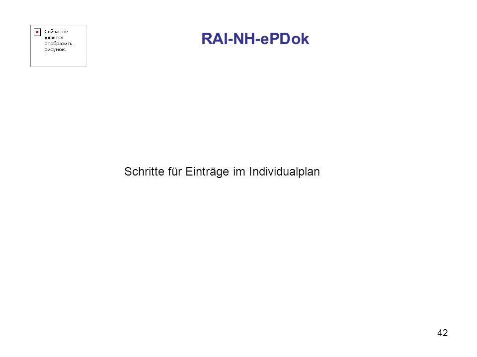 42 RAI-NH-ePDok Schritte für Einträge im Individualplan