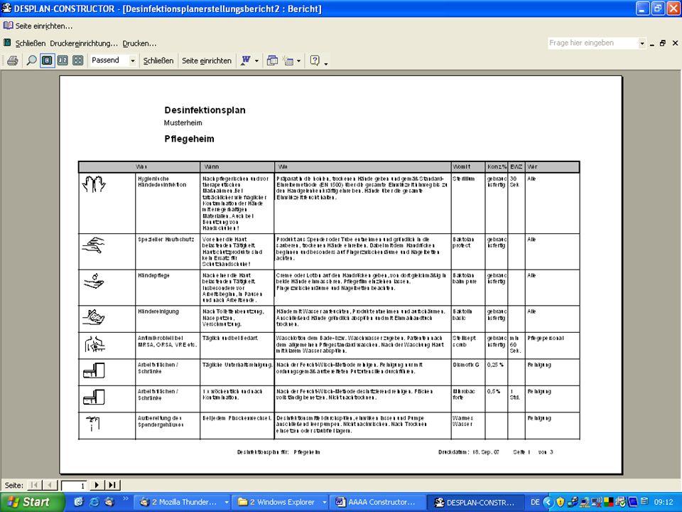 www.hygieneplan.de 118 Einführung in die CD-ROM Senio-QM forte