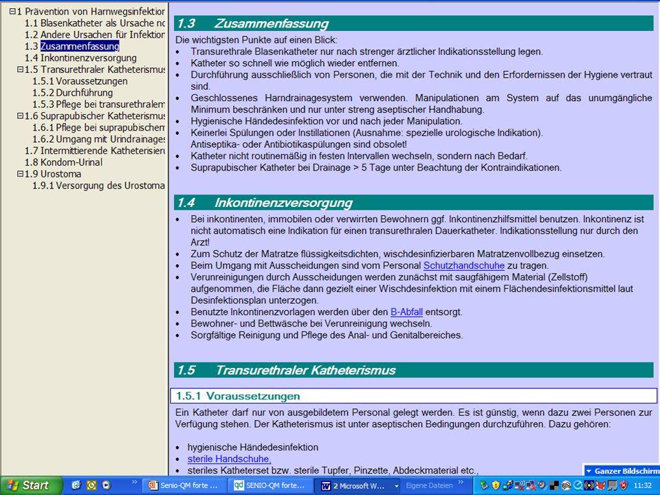 www.hygieneplan.de 16 Einführung in die CD-ROM Senio-QM forte