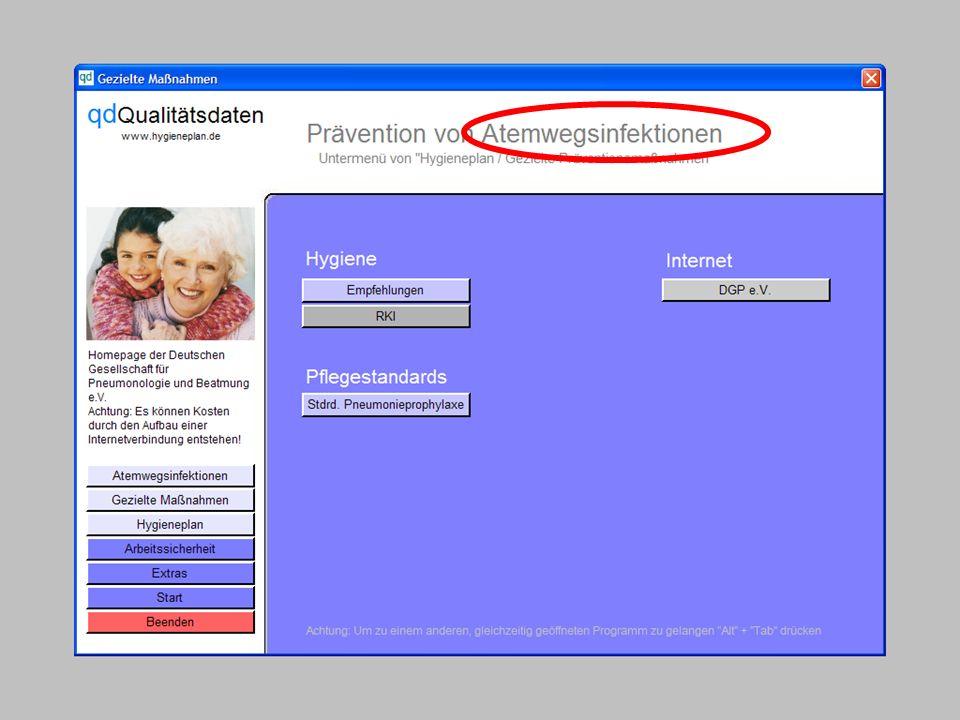 www.hygieneplan.de 26 Einführung in die CD-ROM Senio-QM forte