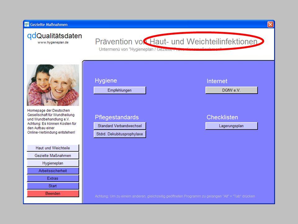 www.hygieneplan.de 27 Einführung in die CD-ROM Senio-QM forte