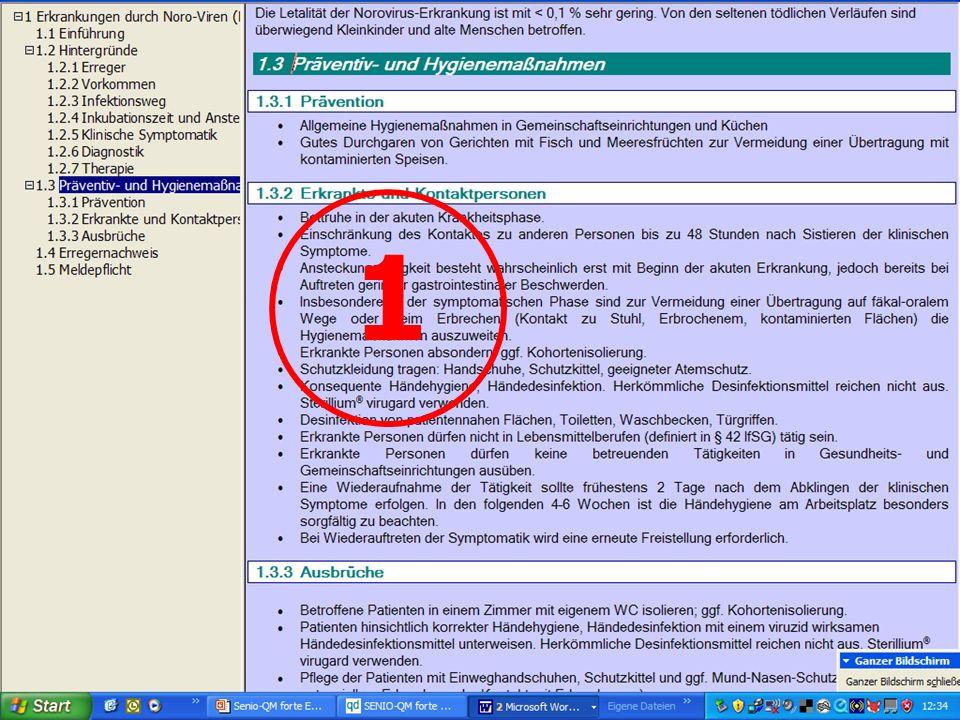 www.hygieneplan.de 35 Einführung in die CD-ROM Senio-QM forte 1
