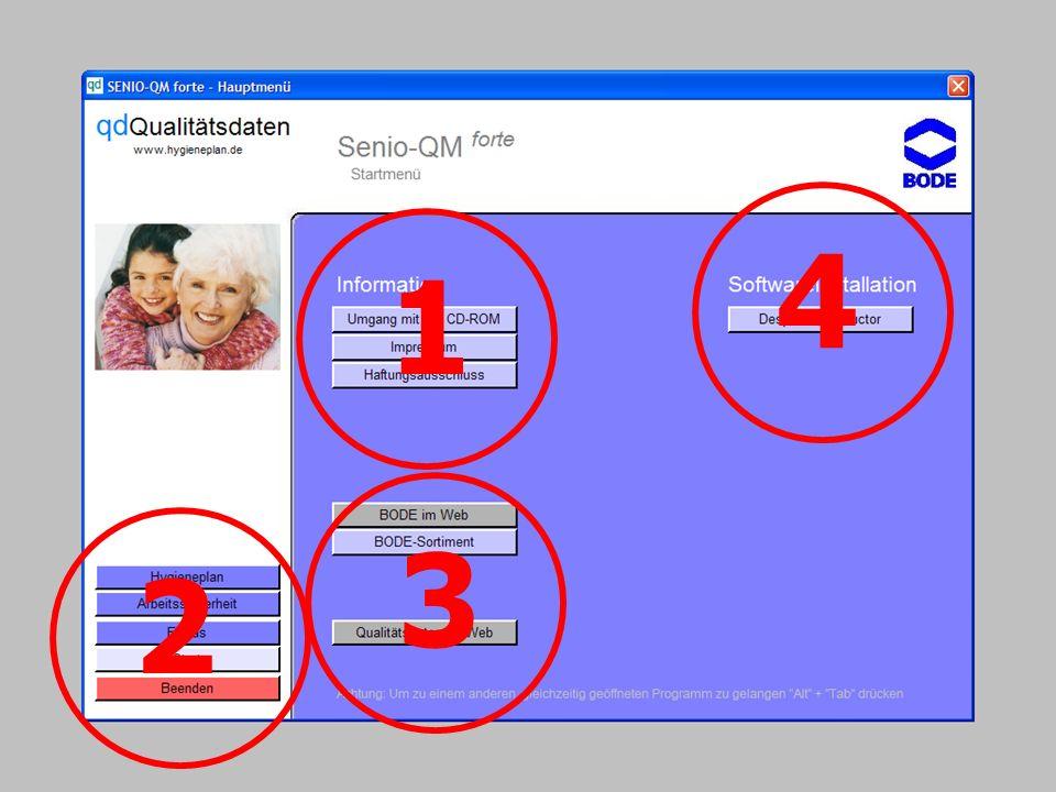 www.hygieneplan.de 5 Einführung in die CD-ROM Senio-QM forte 1