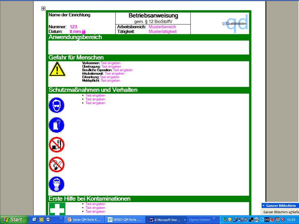 www.hygieneplan.de 45 Einführung in die CD-ROM Senio-QM forte
