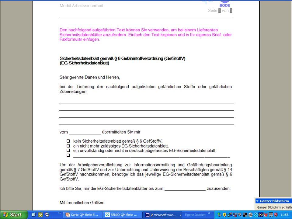 www.hygieneplan.de 46 Einführung in die CD-ROM Senio-QM forte