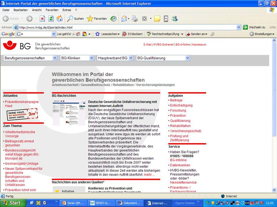 www.hygieneplan.de 47 Einführung in die CD-ROM Senio-QM forte