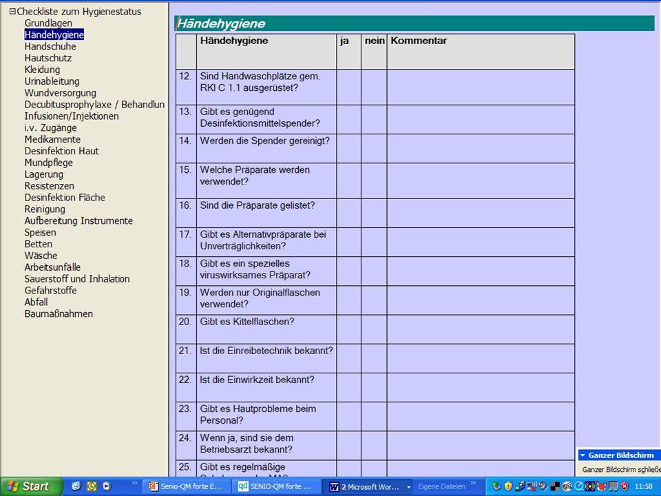 www.hygieneplan.de 50 Einführung in die CD-ROM Senio-QM forte