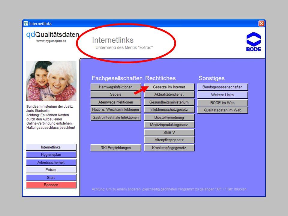 www.hygieneplan.de 57 Einführung in die CD-ROM Senio-QM forte