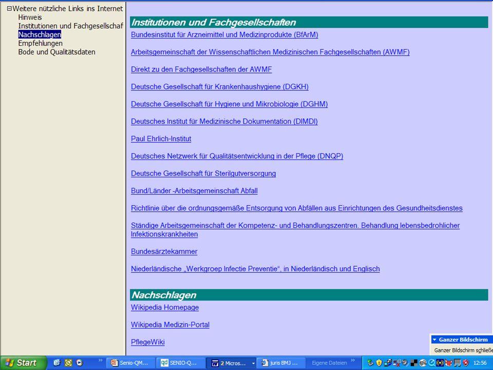 www.hygieneplan.de 60 Einführung in die CD-ROM Senio-QM forte