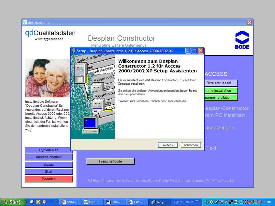 www.hygieneplan.de 73 Einführung in die CD-ROM Senio-QM forte