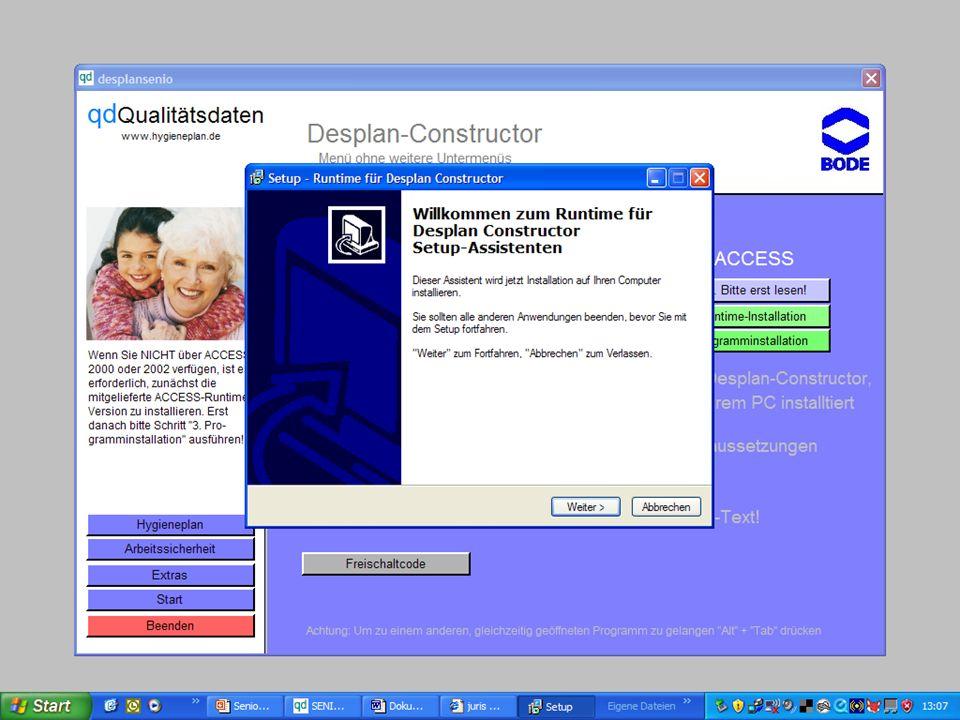 www.hygieneplan.de 76 Einführung in die CD-ROM Senio-QM forte