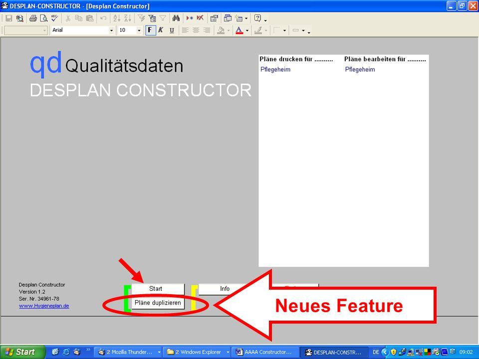 www.hygieneplan.de 96 Einführung in die CD-ROM Senio-QM forte Neues Feature