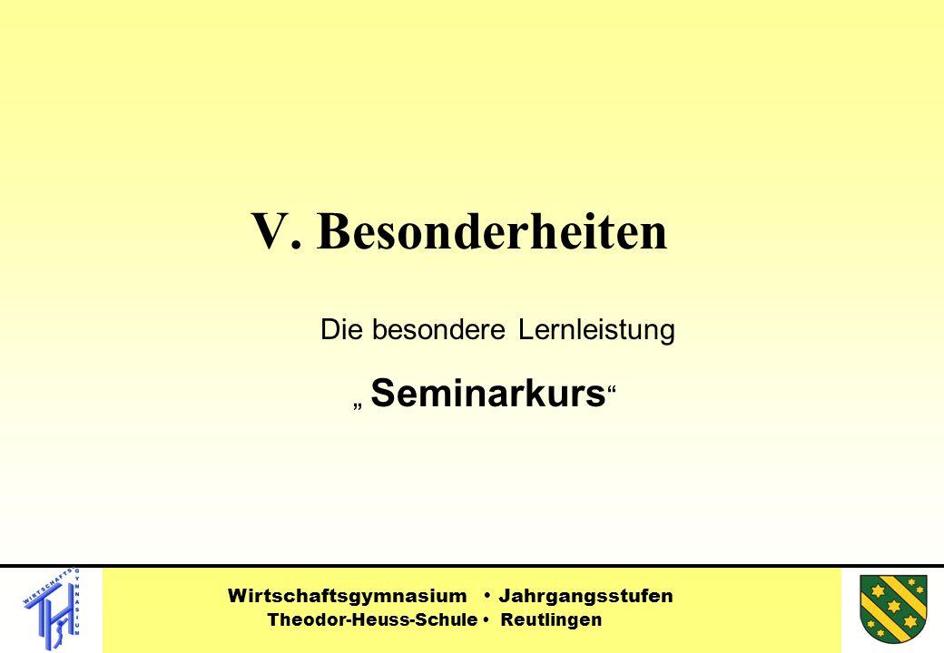 Die besondere Lernleistung Seminarkurs V.