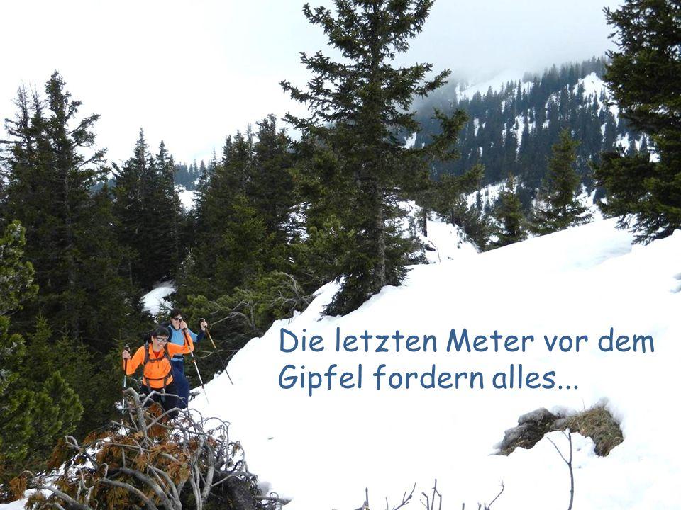 Die letzten Meter vor dem Gipfel fordern alles...