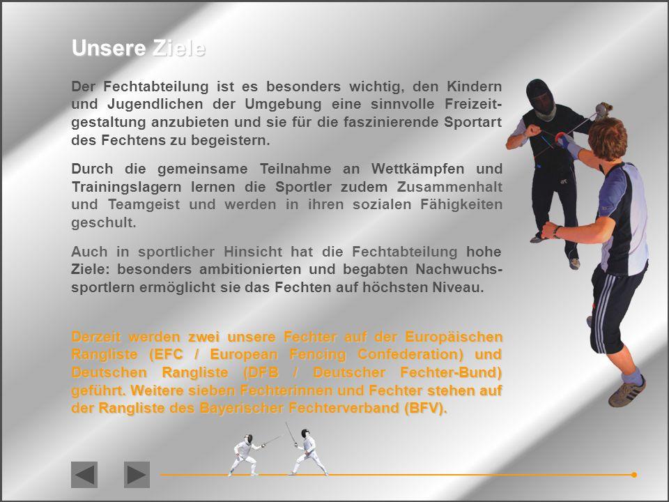 Im September 2009 wurde mit Unterstützung des Vorstands des FC Jengen eine Fechtabteilung gegründet. Das Projektziel lautete – 'zusammen mit dem erfah
