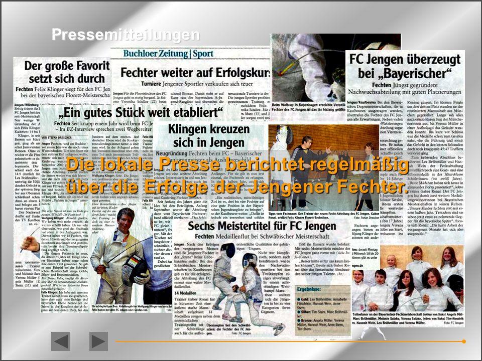 Turnierfechter Annabelle Fälschlein (10) Schwäbische Meisterin 2010 Anne Stern (9) Schwäbische Meisterin 2010 Hannah Wein (12) Bayerische Vizemeisteri