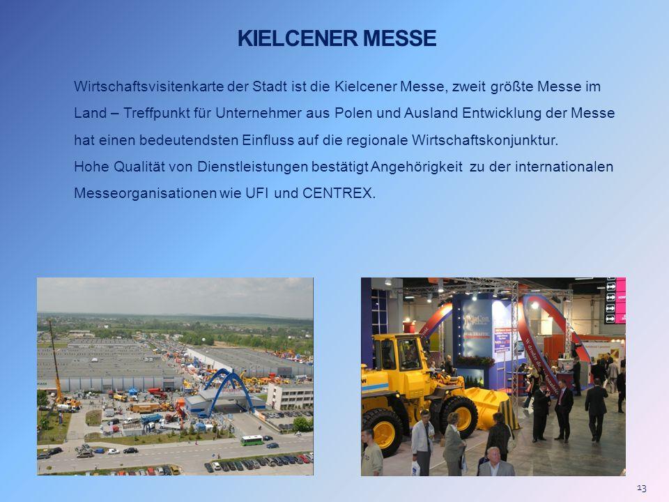 KIELCENER MESSE Wirtschaftsvisitenkarte der Stadt ist die Kielcener Messe, zweit größte Messe im Land – Treffpunkt für Unternehmer aus Polen und Ausla