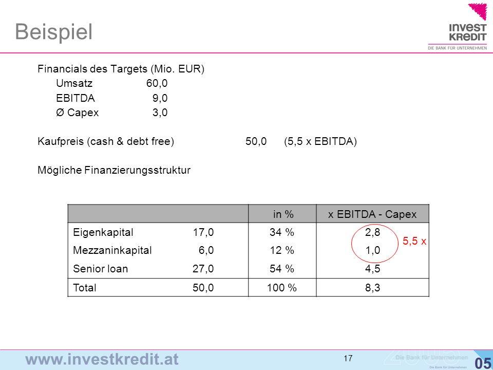 18 Conclusio und Summary I > Finanzinvestoren vs.