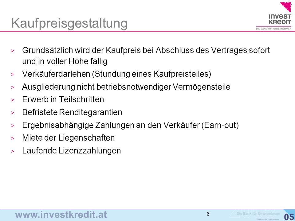 7 Grundstruktur Akquisitionsfinanzierung (1) Unternehmen A (in D/CH) Unternehmen B Eigentümer 1 Eigentümer 2 GELD ANTEILE konsolidierte Betrachtungsweise 1.