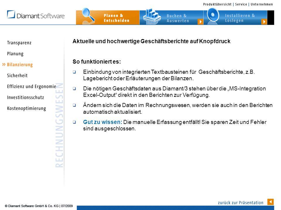 Aktuelle und hochwertige Geschäftsberichte auf Knopfdruck So funktioniert es: Einbindung von integrierten Textbausteinen für Geschäftsberichte, z.B.