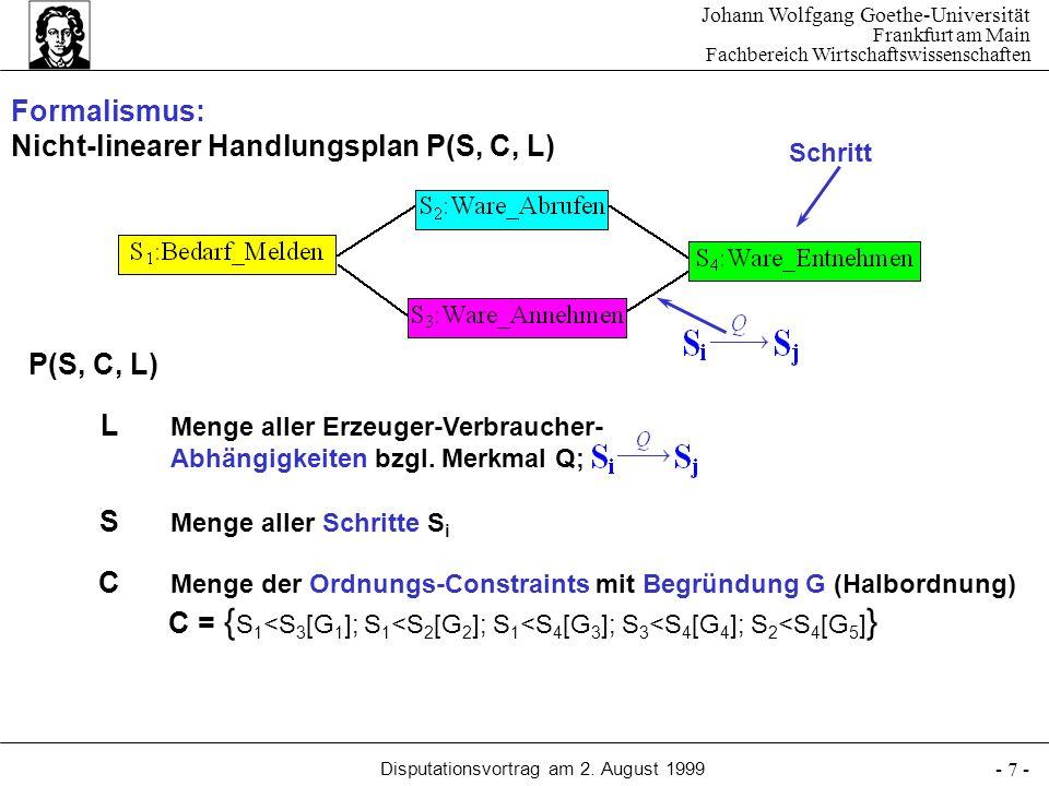 Johann Wolfgang Goethe-Universität Frankfurt am Main Fachbereich Wirtschaftswissenschaften Disputationsvortrag am 2. August 1999 - 7 - Menge aller Erz