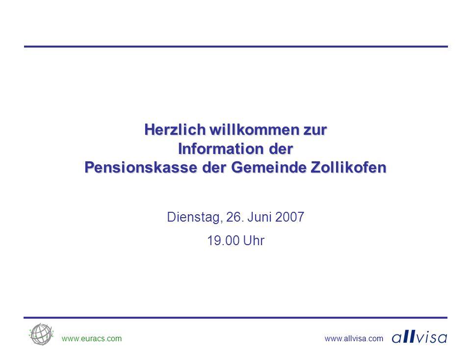 www.euracs.comwww.allvisa.com Herzlich willkommen zur Information der Pensionskasse der Gemeinde Zollikofen Dienstag, 26.