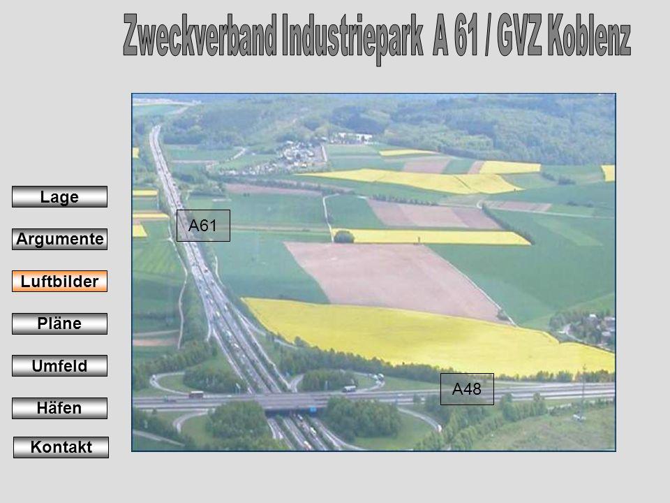 A61 A48 Lage Argumente Luftbilder Pläne Umfeld Häfen Kontakt