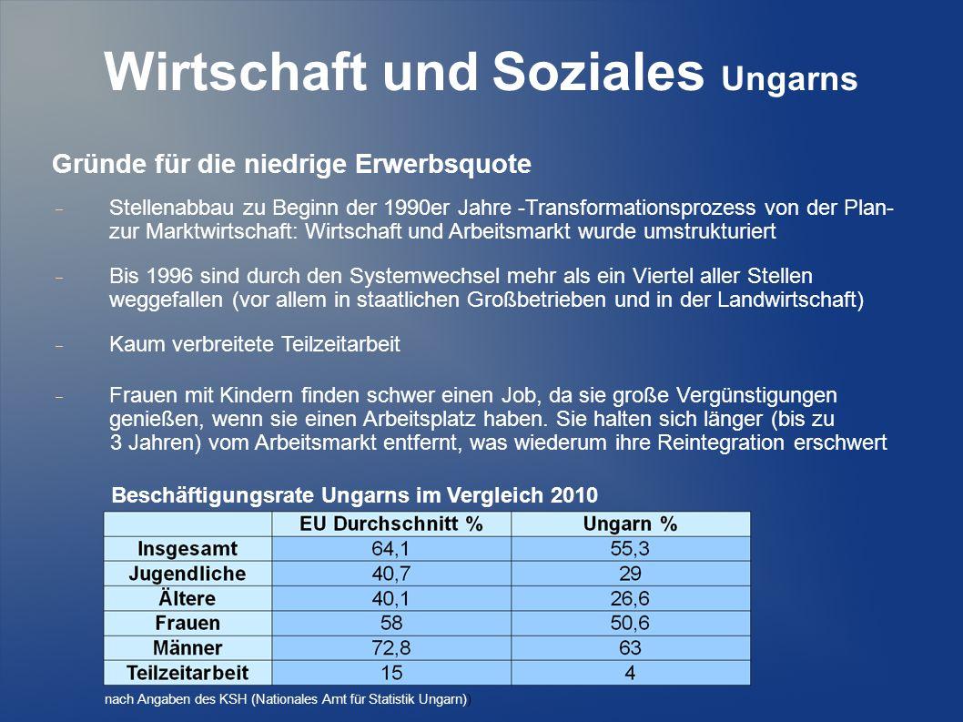 Wirtschaft und Soziales Ungarns II.