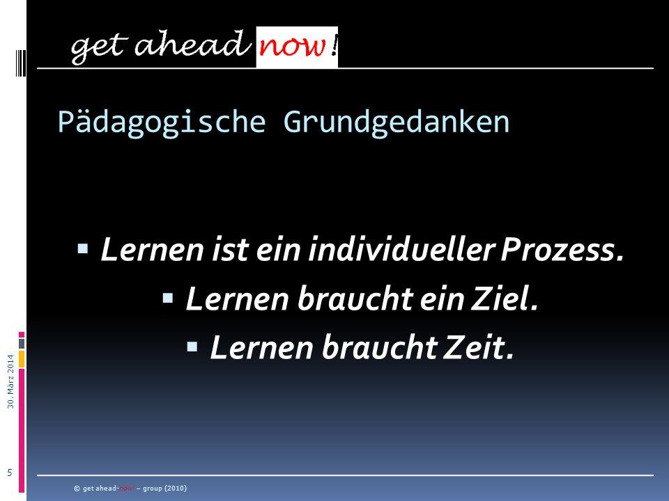 30.März 2014 6 Konsequenz: Ziel-Vereinbarung © get ahead-now.