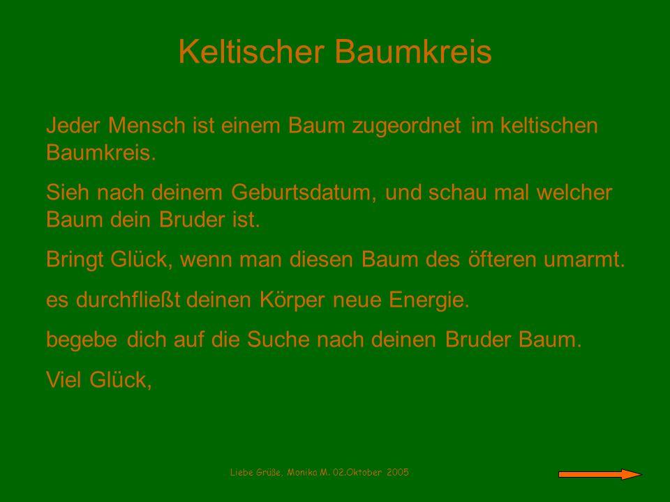 Der Haselbaum 22.03 – 31.03.03 *** 24.09.- 03.10.