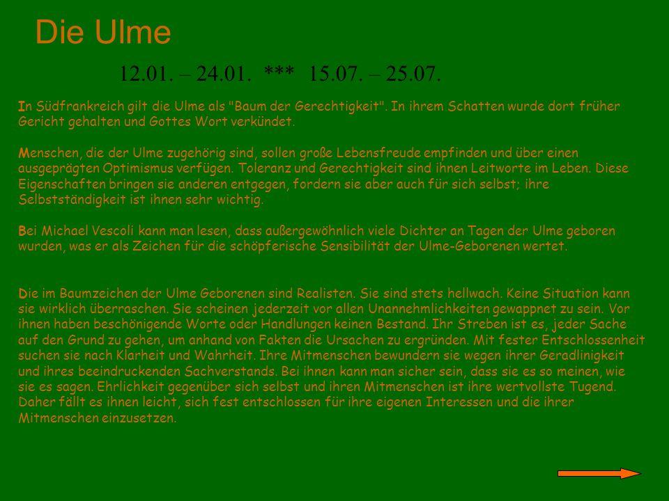 Der Nussbaum 21.04.- 30.04. *** 24.10. - 11.11.