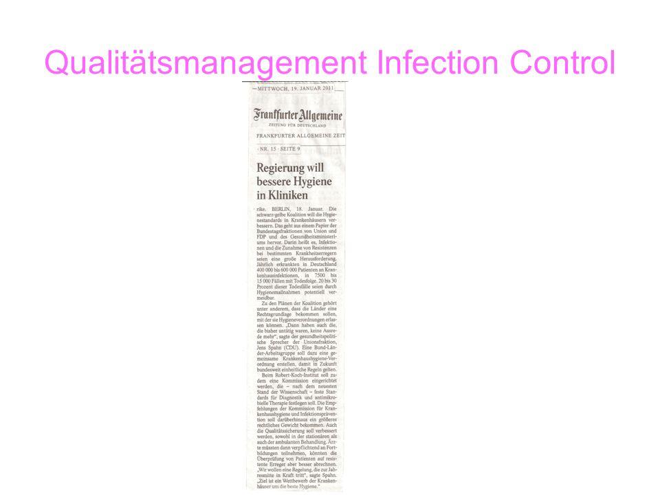 Qualitätsmanagement Infection Control