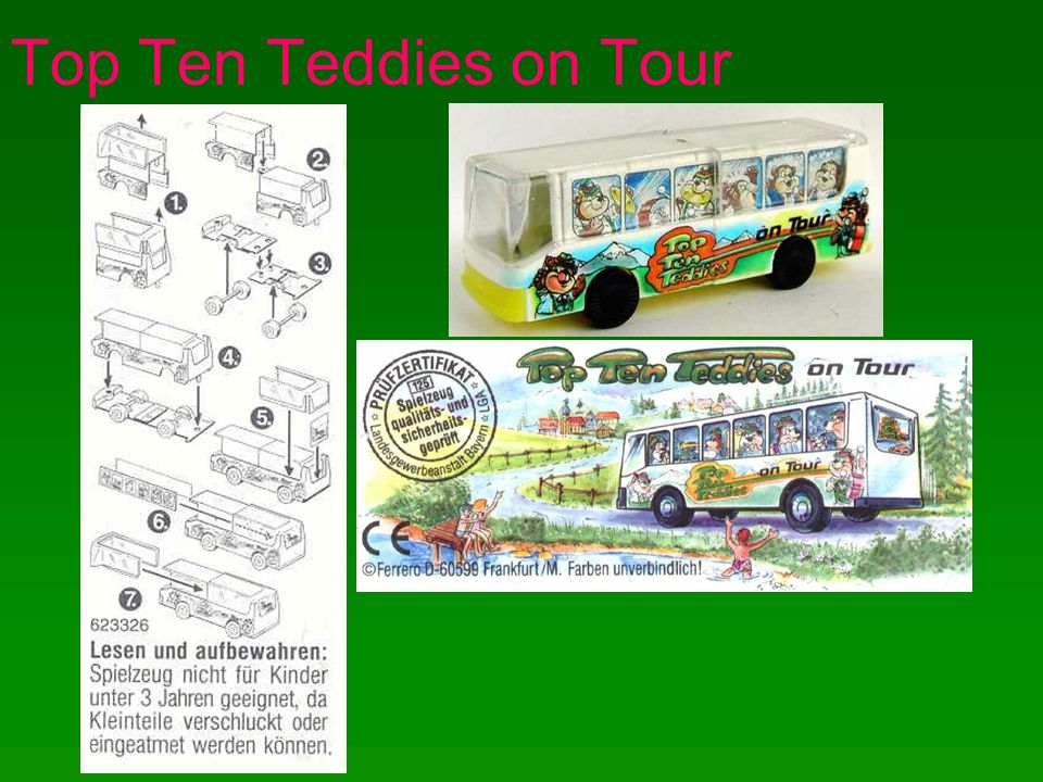 Top Ten Teddies on Tour