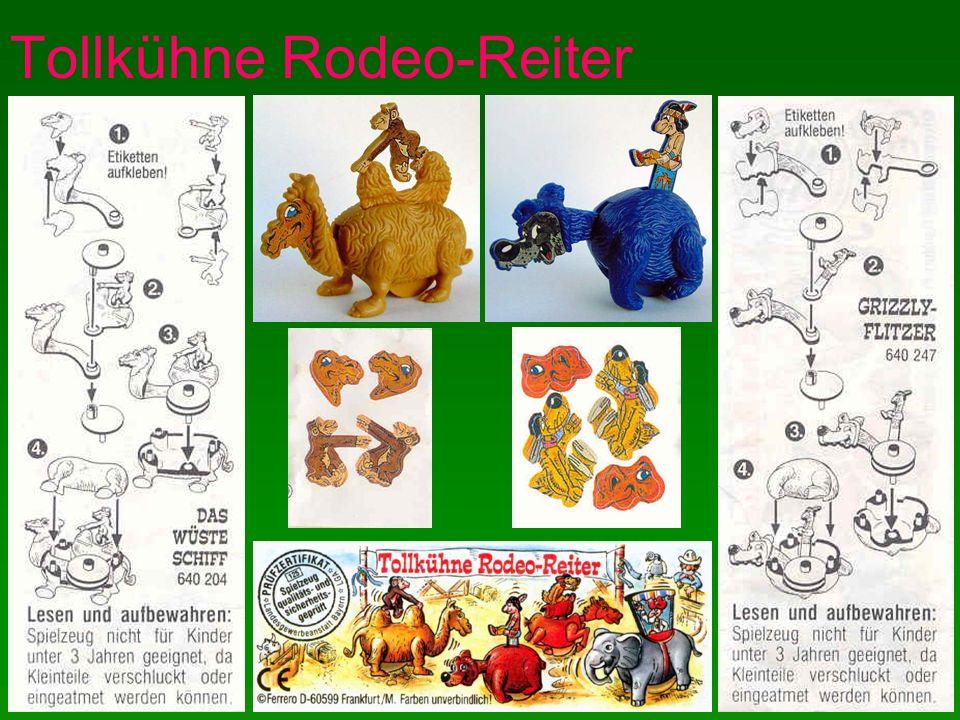 Tollkühne Rodeo-Reiter