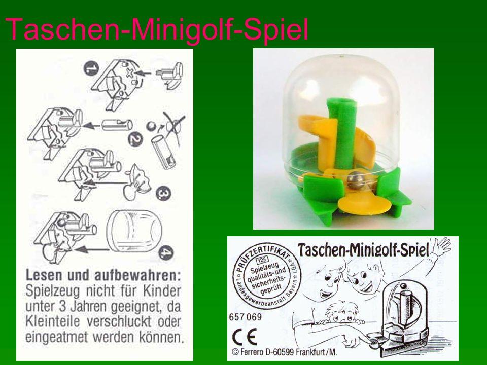 Taschen-Minigolf-Spiel